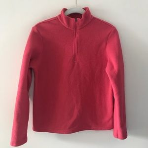 LL Bean Pink 1/4 Zip Fleece Top Jacket